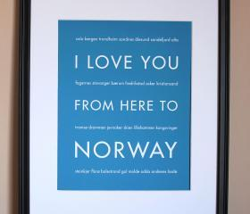 Norway Art Print, 8x10