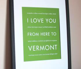 Vermont Art Print, 8x10
