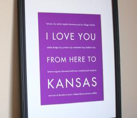 Kansas Art Print, 8x10