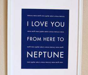 Neptune Nursery Art, 8x10, Custom Color, Unframed