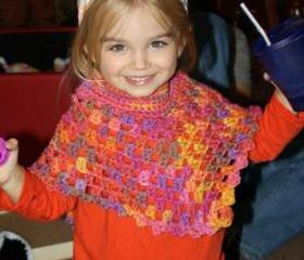 Child's crochet poncho