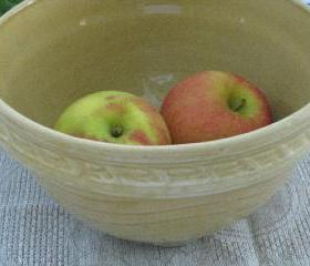 Vintage Primitive Kitchen Bowl 1950s Pottery