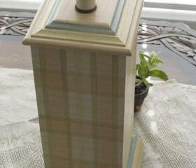 Vintage Hand Painted Mary Hughes Table Lamp Sans Shade