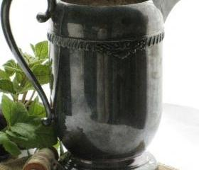 Vintage Water Pitcher Silver on Copper