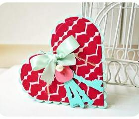Heart in Heart card with Key & lock