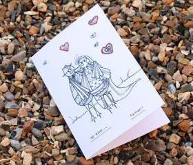 Be mine card (Detailed doodles range)