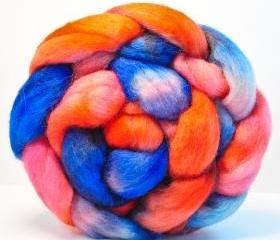 Hand Painted Wool Roving CORRIDALE Combed Top Spinning or Felting Fiber - 4.1 oz - BUCCANEER