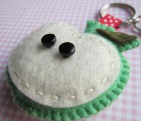 Green Apple Keyring Charm