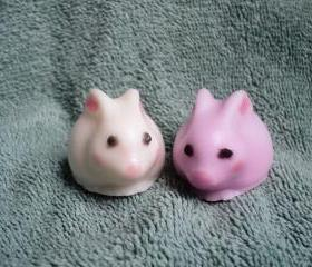 Mini Bunny Couple Soap - Black Raspberry Vanilla Scent