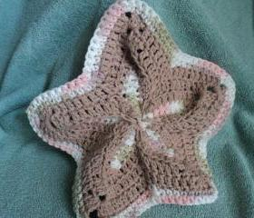Wash Cloth - Starfish Shaped - Brown