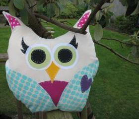 Colourful Owl Cushion 