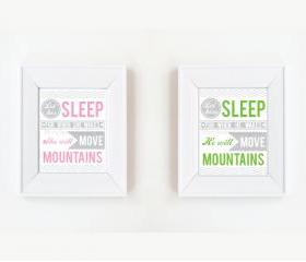 8x10 Let him/her sleep nursery print