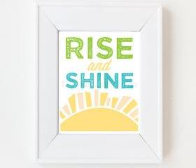 8x10 Rise and Shine print