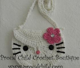 Kitty crocheted purse