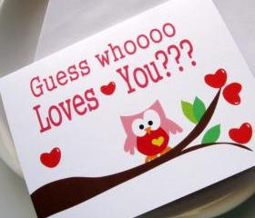 I love you card, Guess whooo Loves you :) A47
