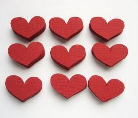 70 Red Love Heart 1.5 x 1 inch Die cut A22