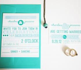 Wedding Announcement and Save the Date Invitations Customizable and Printable