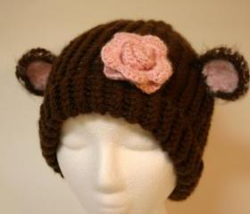 Adult size whimsical Monkey hat