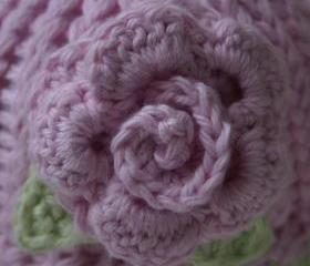 Cotton Rose preemie hat