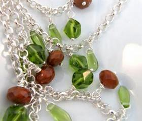 Brown and green necklace