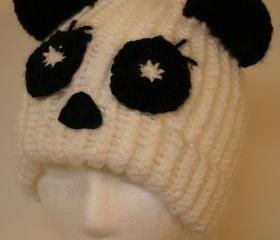 Adult size Whimsical Panda Bear Hat