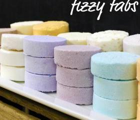 12 Fizzy Tabs - Moisturizing Mini Bath Bombs