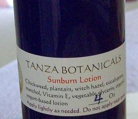 Herbal Sunburn/Windburn Lotion 4 Oz