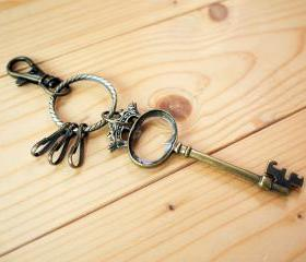 Charm Keychain, Vintage Key