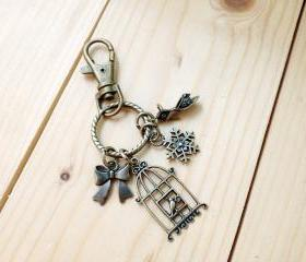 Charm Keychain, Bird Cage