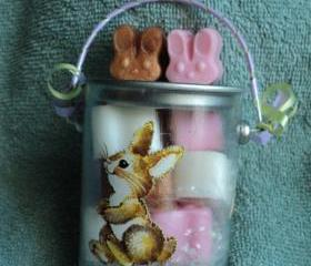 Bunny Soap Pail - Vanilla Scent