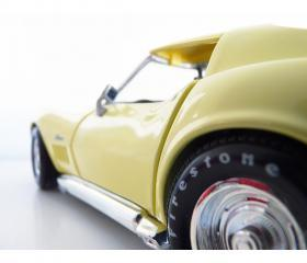 1969 Corvette collectible HotWheels car 1:18