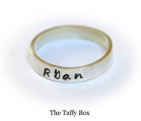 Hand Stamped Message Ring