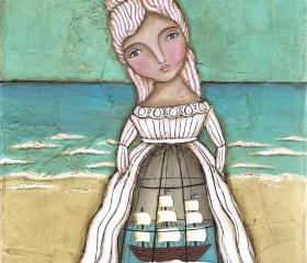 She Longed to be Back at Sea... Fine Art Print