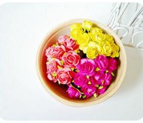 NEW!! Mulberry Rose Buds paper flower mixed color / pack