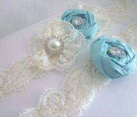 Bridal Garter NEW 2012 - Tiffany Luxury Bridal Garter Set