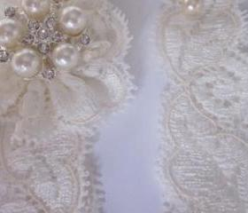 Bridal Garter NEW 2012 - Simply Lace Bridal Garter Set