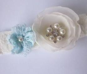 Bridal Garter - Simply Flowers including a little something blue
