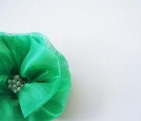 Green Flowers Handmade Appliques Embellishments(4 pcs)