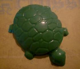 Chocolate Turtles Candy Cupcake Topper Party Favor Set of 10
