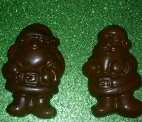 Solid Chocolate Santa Claus Christmas Stocking Stuffer Order of 6
