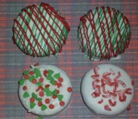 Christmas Assorted Chocolate Covered Oreos Order of One Dozen