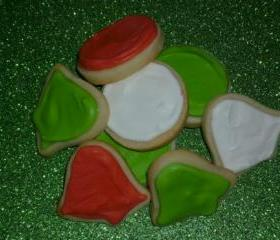 Mini Decorated Christmas Holiday Sugar Cookies Order of 5 Dozen