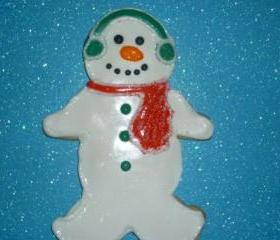 Large Vanilla Snowman Sugar Cookies Order of 3