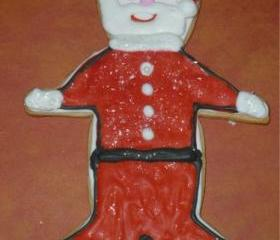 Large Santa Claus Vanilla Decorated Christmas Sugar Cookies Order of 3