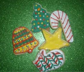 Decorated Christmas Sugar Cookie Assortment Order of 12