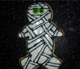 Mummy Sugar Halloween Decorated Cookies Party Favor Order of 3