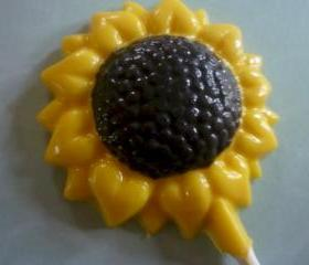 Chocolate Sunflower Lollipops for Spring/Summer Set of 6
