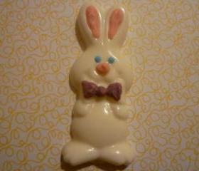 Chocolate Easter Bunny with bowtie Set of 12
