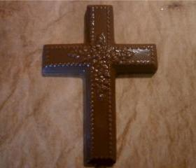 Solid Chocolate Cross Easter or Religious Cross Set of 6