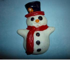 Chocolate Winter Snowman Candy Set of 6